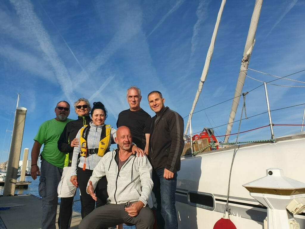 Crew - Dan, Jim, Randy, Claudio und Rosalia
