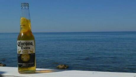 Corona am Beach...